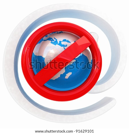 Global e-mail protection - stock photo
