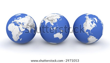 Global Earth with map isolated on background. Texture, Island or Surface and Height symbol. Globe earth texture map. Surface height levels. Space view. Game map. Globe Earth texture background