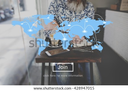 Global Earth World Map Graphic Concept - stock photo