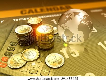 Global economy concept funding - stock photo
