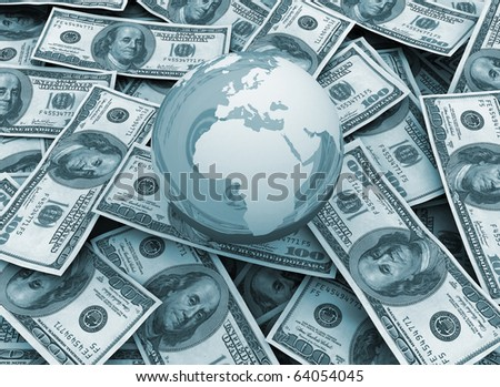 global economy Money background - stock photo