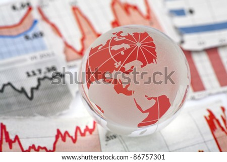 Global financial crisis - stock photo