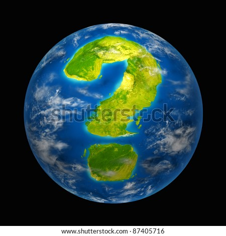 Global future and questions featuring the planet earth with a continent in the shape of a question mark for international environment and political change and global warming for nature and the world. - stock photo