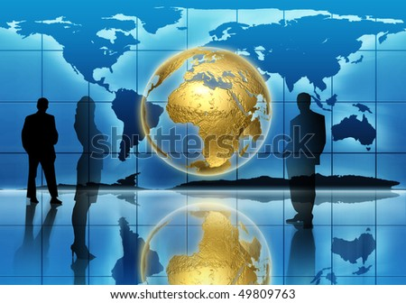 Global generation - business edition - stock photo