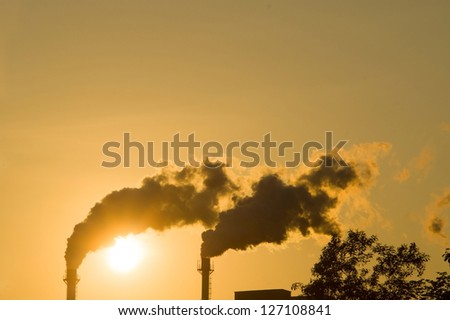 global greenhouse - stock photo