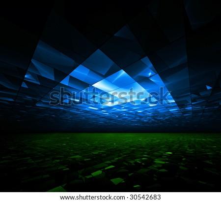 Global Greenhouse - 3D fractal illustration - stock photo