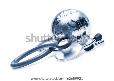 Global Healthcare And Medicine concept studio shot - stock photo