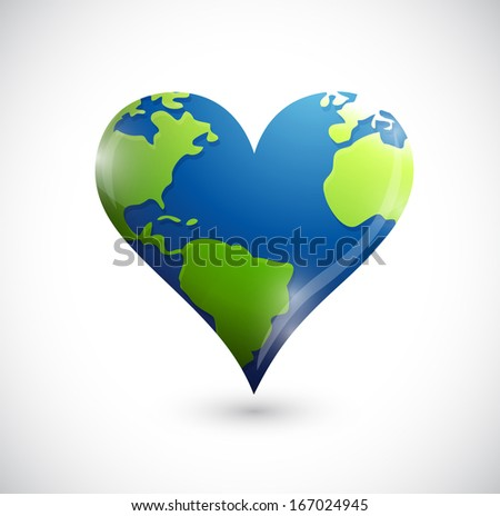 global heart illustration design over a white background