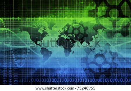 Global Integration of Technologies as a Concept - stock photo