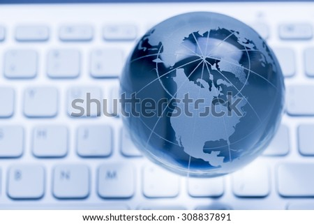 Global & international business concept - stock photo