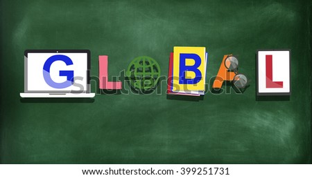 Global International Worldwide Universal Concept - stock photo