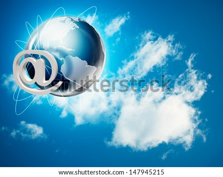 Global internet and communications backgrounds - stock photo