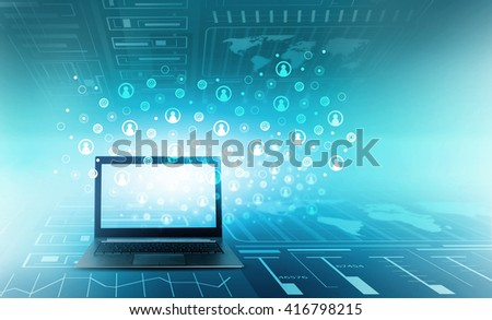 Global internet concept - stock photo