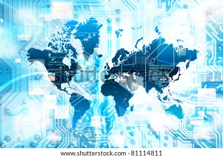 Global internet connection and streaming concept - stock photo