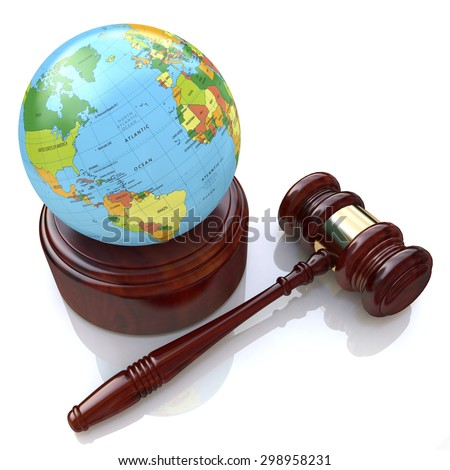 Global justice - the concept of the law  - stock photo