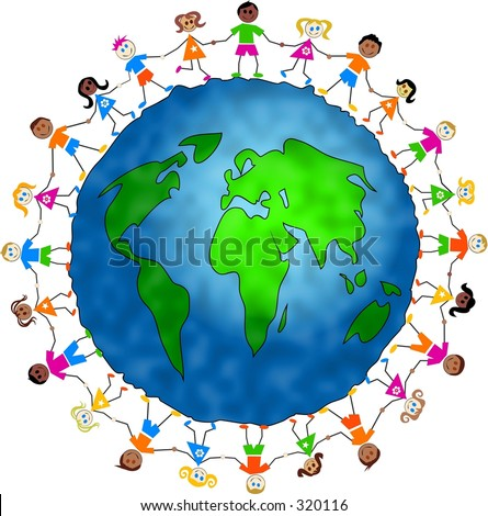 global kids - stock photo