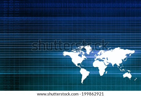 Global Logistics and Supply Chain Network Business - stock photo