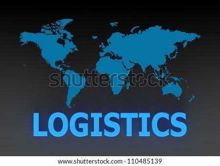 Global Logistics Management Processes - stock photo