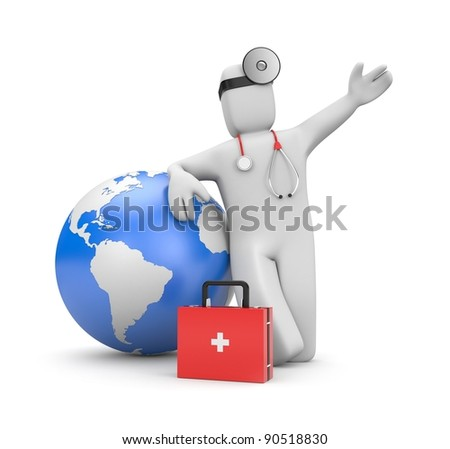 Global medical services - stock photo