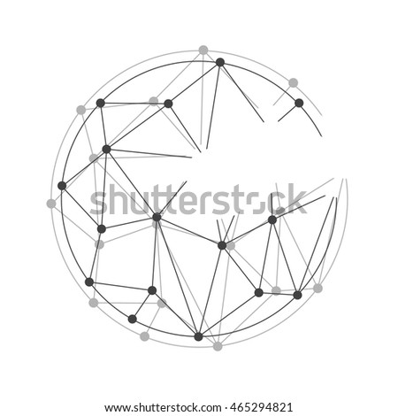 Global mesh sphere. Abstract geometric shape