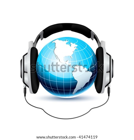 Global Music Concept  - Vector version in my portfolio - stock photo