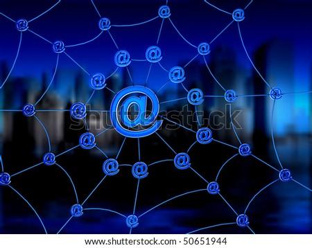 Global Net - stock photo
