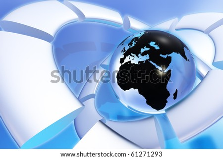 Global network background - stock photo