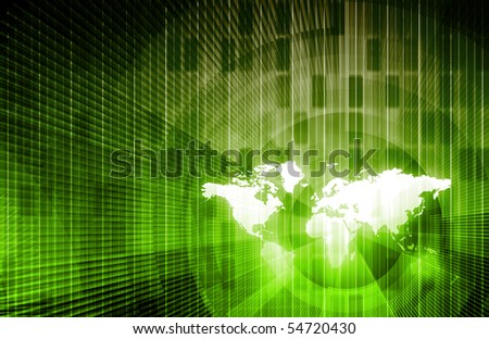 Global Network Concept as a Illustration Art - stock photo