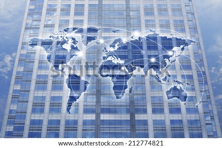 global network connection concept background - stock photo