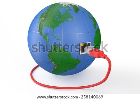 global network connection concept isolated on white background - stock photo