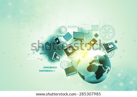 Global network devices - stock photo