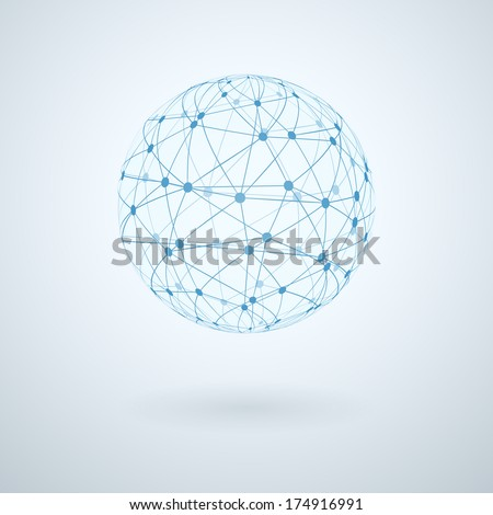 Global network icon  illustration - stock photo