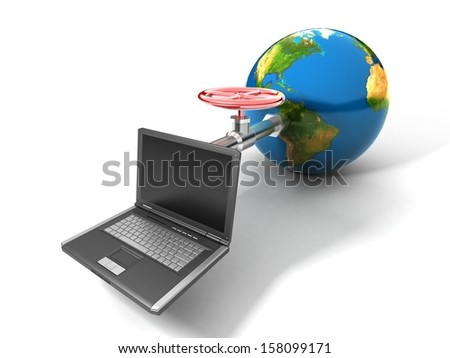 Global network the Internet Elements of this image furnished by NASA