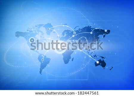 Global networking. Internet Concept of global business, globalization concept  - stock photo