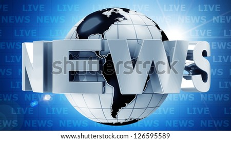 Global News Concept Image. (Animation for this image see in my footage gallery) - stock photo