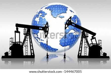 global oil resources - stock photo