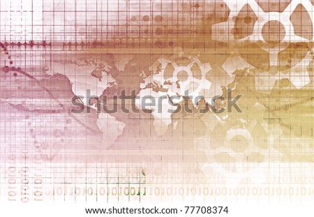 Global Partnership in Business and Knowledge Art - stock photo