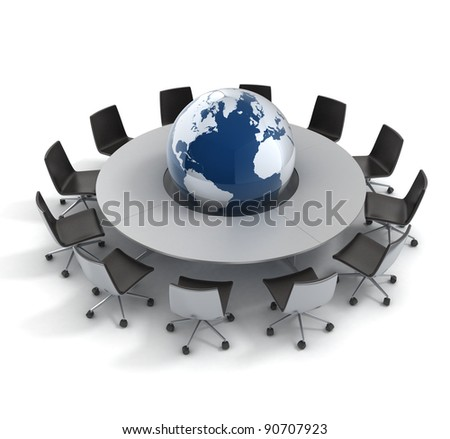 global politics, diplomacy, strategy, environment, world leadership 3d concept - stock photo