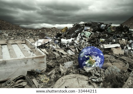 Global pollution concept - stock photo