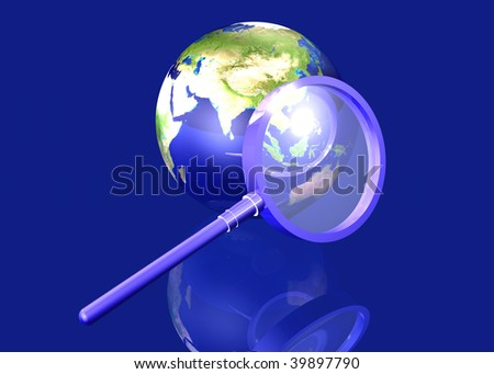 Global Search - Asia - stock photo