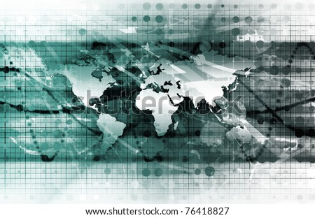 Global Solutions for a Company as a Concept - stock photo