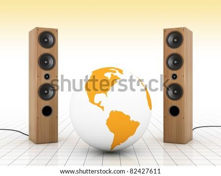 Global sound - stock photo
