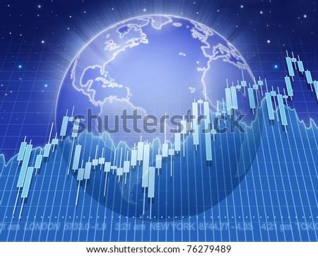 global stock-market - stock photo