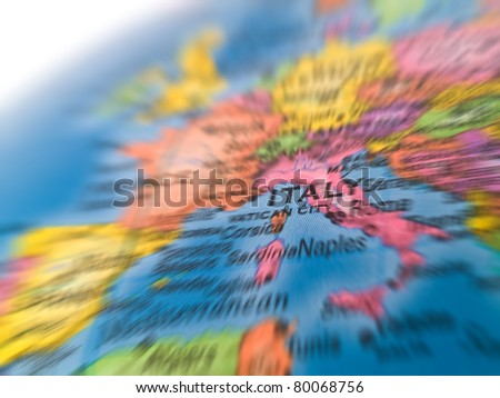Global Studies of Europe and Mediterranean with Emphasis on Italy - stock photo