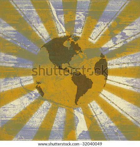 global sunrise - stock photo