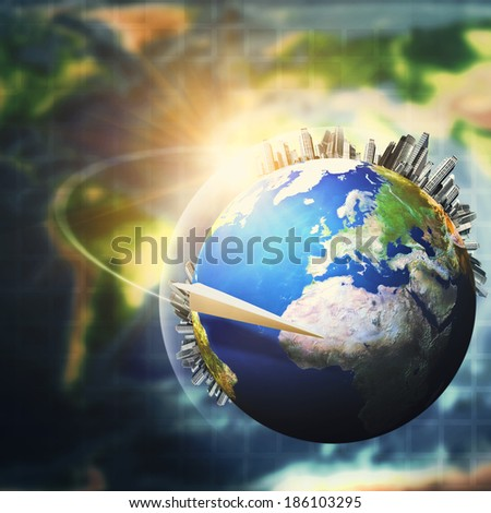 Global sustainable development concept, environmental backgrounds. NASA imagery used - stock photo