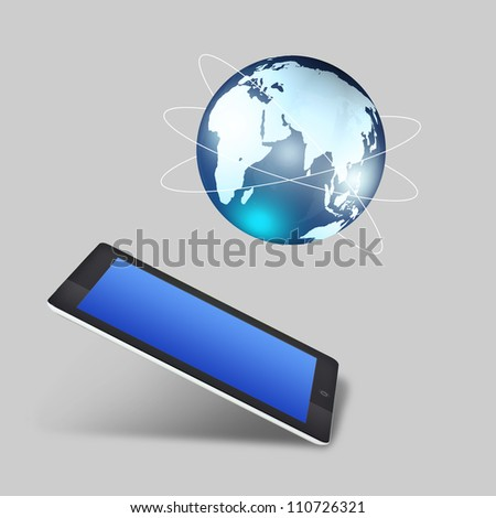 Global tablet PC boom concept - stock photo