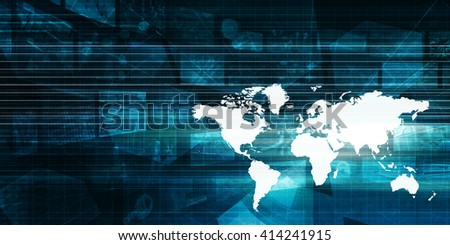 Global Technology Business Abstract Background as Art