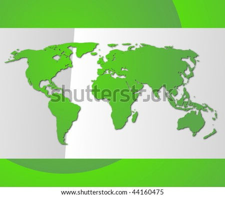 global technology concept with world map and copyspace - stock photo