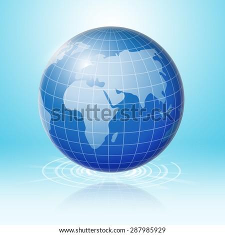 Global technology connection worldwide. - stock photo